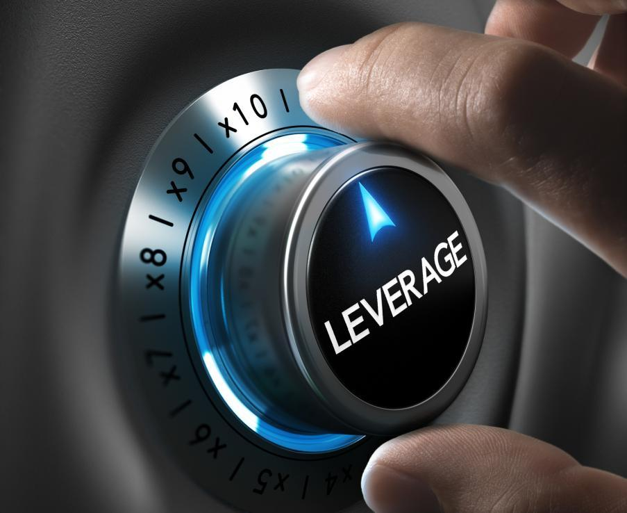 Leveraging Leverage button pointing x10 position