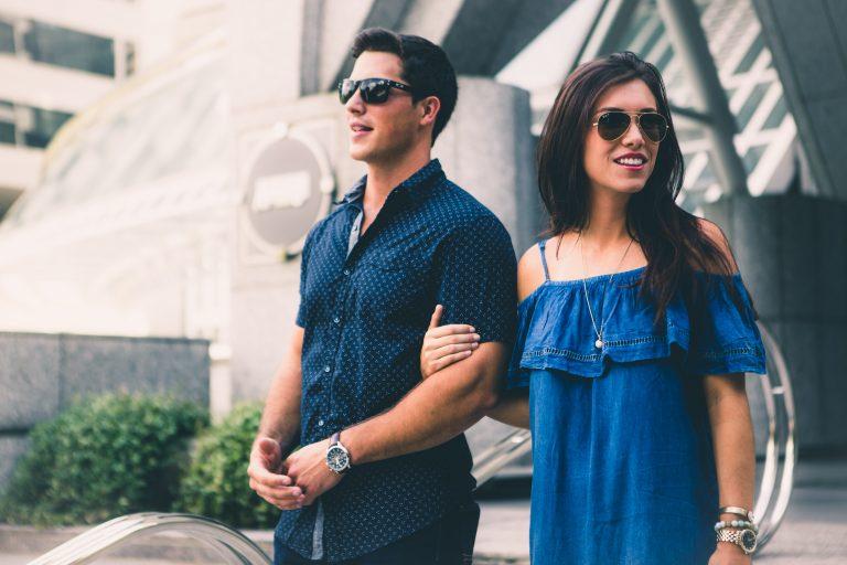 Stylish Couple At Park
