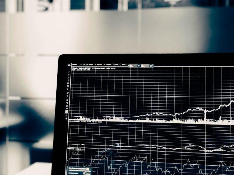 Stock Chart On Laptop