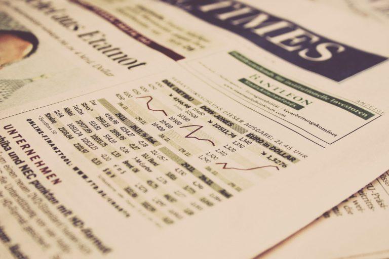 Stocks On Newspaper
