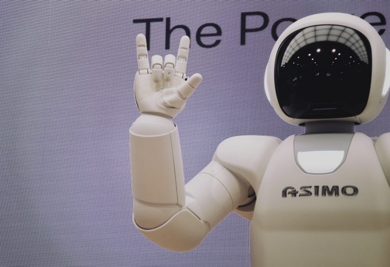 Robot Giving Rock-On Sign