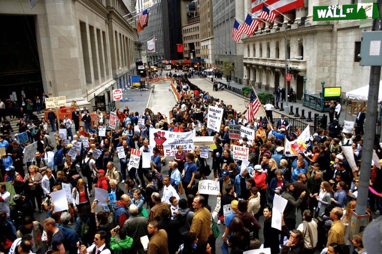 Protestors Outside Wallstreet