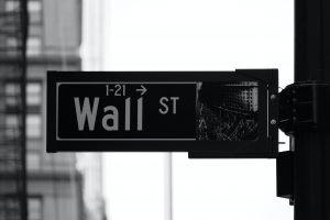 AI Stock Trading Wall Street Sign