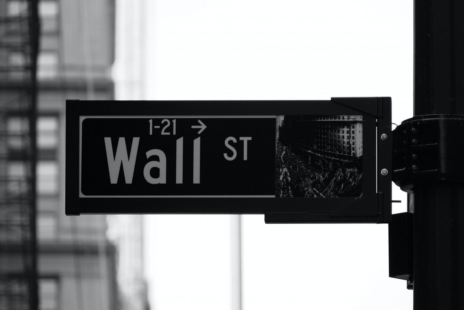 AI Stock Trading Wall Street Sign